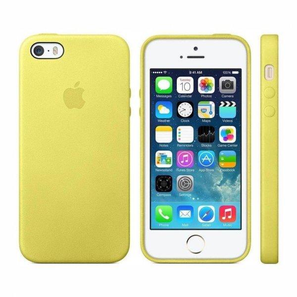 [Amazon ohne Prime] iPhone 5s Case Leder Gelb für 11,39€