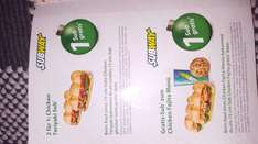 Subway, 1 Sub Gratis