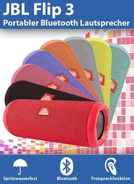 JBL Flip 3 portabler Bluetooth 4.1 Lautsprecher  ebay 99€