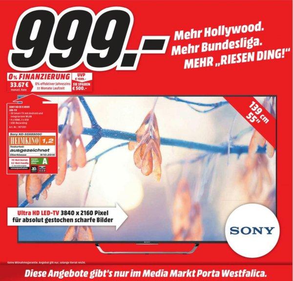 [Lokal] Sony KD-55X8505C im Media-Markt Porta Westfalica