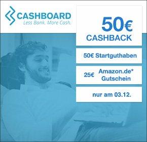 [Qipu] Cashboard: Nur Heute - 50€ Cashback + 50€ Startguthaben + 25€ Amazon.de-Gutschein