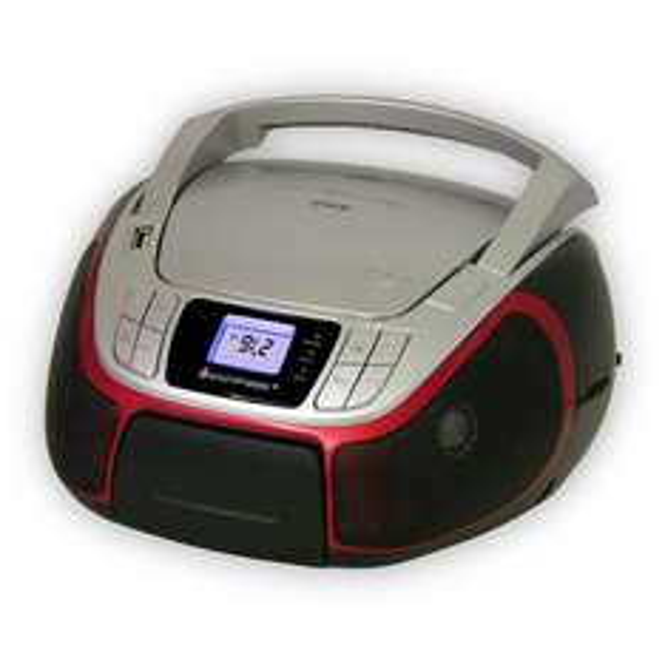 Soundmaster SCD3330RO CD radio mit MP3-CD / USB / Aux-in / Kopfhörer-Anschluss