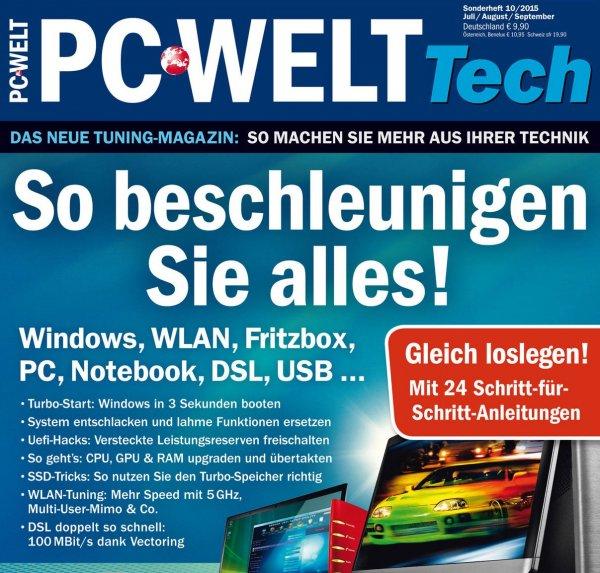 """PC-WELT Sonderheft """"So beschleunigen Sie alles"""" jetzt kostenlos herunterladen und 9,90€ sparen"""