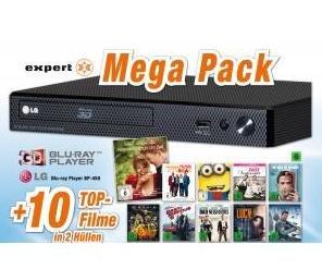 LG BP450 - 3D Blu-ray-Player (Smart TV, Internet Apps, DLNA, Dolby Digital (Plus), Dolby TrueHD) inkl. 10 Blu-ray Filme ab 99€ bei Expert Technomarkt