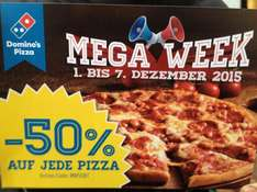 -50% auf jede Pizza bei Domino's Pizza in Aachen