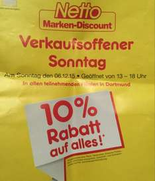 [Lokal Dortmund Netto] 10 % auf fast alles zum Nikolaus bei Netto