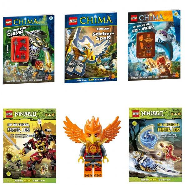 [Ebay] LEGO Chima & Ninjago Paket: Minifiguren, Bücher, Stickerhefte (5 Artikel)