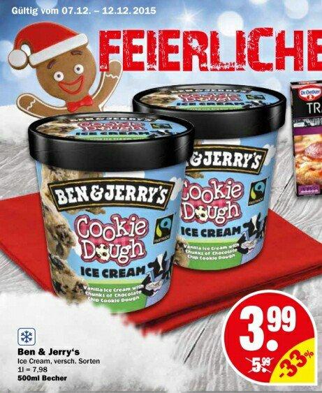 [NP Discount] Ben & Jerry's - Ice Cream (verschiedene Sorten)