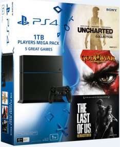 PlayStation 4 1TB 1 Controller 5 Spiele (Last of us, God of War 3 remastered, Uncharted 1-3)