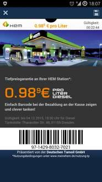 Diesel für 0,98€ in Dresden