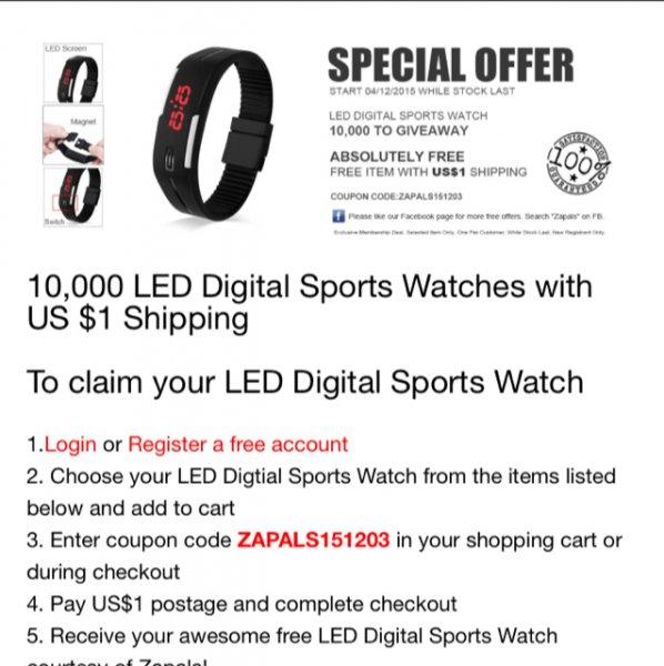 Sport Watch für 1$