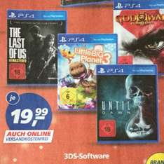4 Spiele reduziert Until Dawn Little Big Planet, God of War und the last of us