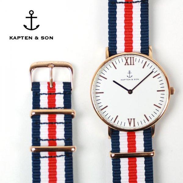 Kapten & Son Uhr inklusive einem Gratis Nylon-Armband (im Wert von 14,90€) durch Gutschein! Nur noch bis morgen gültig!