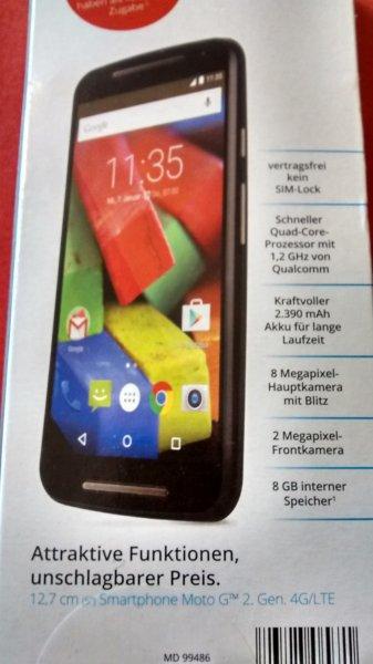(Abgelaufen)(Lokal Ludwigshafen) Smartphone Moto G 2. Gen mit LTE  109,00 Euro