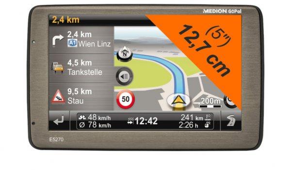 "MEDION E5270 MD 98531 GoPal 7.5 Navigationssystem 5""/12,7cm EU TMC 4GB intern"