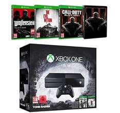 Xbox One 1To Rise of the Tomb Raider + Call of Duty Black Ops III + The Evil Within + Wolfenstein : The New Order für 357,98 € @ Amazon Frankreich Blitzangebot