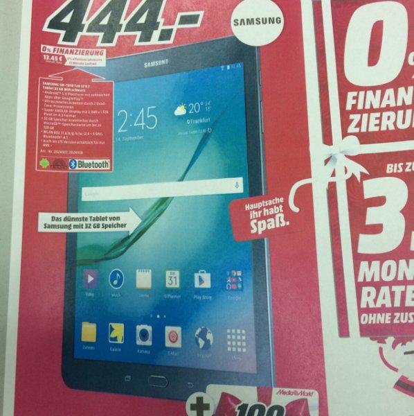 [Media Markt Reutlingen] Samsung Galaxy Tab S2 9.7 32GB WiFi schwarz/weiß mit 100€ Gutschein & Keyboard Cover