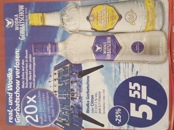 [Real offline] Wodka Gorbatschow oder Citron 0,7l Flasche für nur 5.55 Euro (Mo 07.12. Bis Sa 12.12)