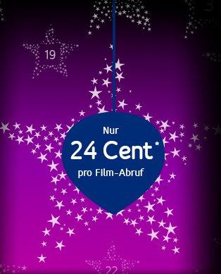 Unitymedia Videothek - Adventskalender: Jeden Tag einen Film leihen für nur 24 Cent