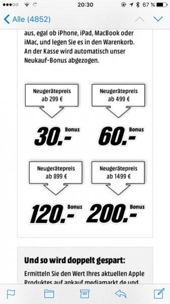 Apple iPhone 6s Plus 64GB für 819€ oder 6S 128GB für 839€ @MediaMarkt