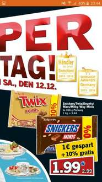 [LIDL Bundesweit] Twix+Snickers Mini