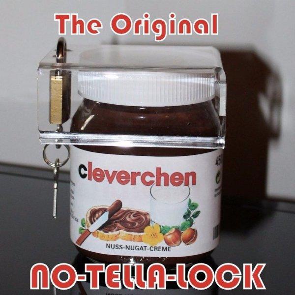 """Schloss für Nutella-Gläser """"No-Tella-Lock"""""""