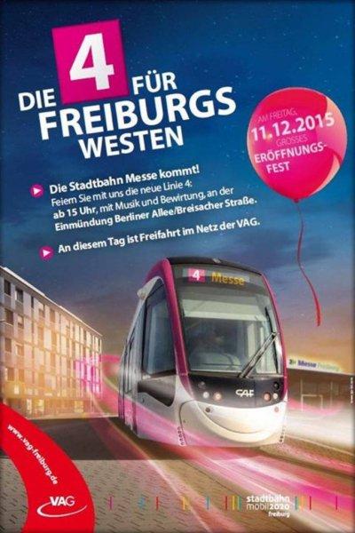 Am Freitag Freifahrten in Freiburg.