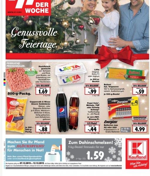 Pepsi Cola, Mirinda , 7 up oder Schwip Schwap 1,5 Liter für 44 Cent im Kaufland Linden ( Kreis Gießen)