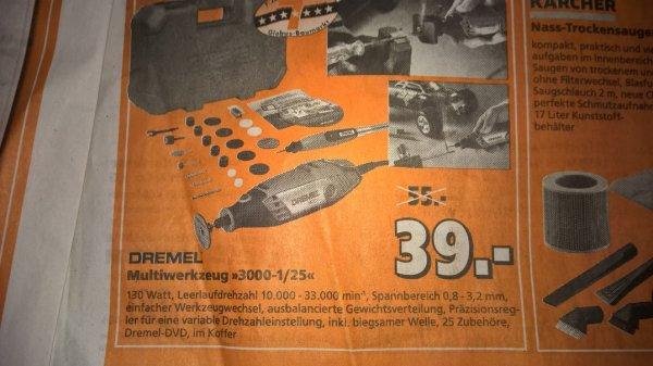 Dremel 3000 1/25 39 Euro - Globus Baumarkt auch online