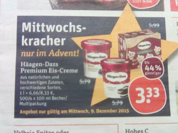 Tegut (9.12.)  Häagen-Dasz Premium Eis Creme 500 ml