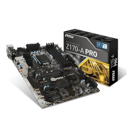 Mainboard MSI Z170-A PRO Sockel LGA1151 (für heise c't Bauvorschlag 11-Watt-PC)[Amazon]