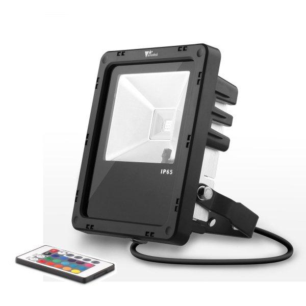 [Amazon] 10W RGB LED-Strahler mit Fernbedienung und IP65 - 8 Euro Rabatt
