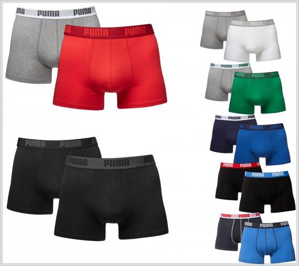 PUMA Boxershorts - 6 Stück für 26,91 € oder 8 Stück für 30,88 € (Größe S-XL + viele Farben)