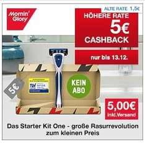 [Qipu] Mornin´Glory: kostenloses Starter Kit One durch 5€ Cashback von Qipu
