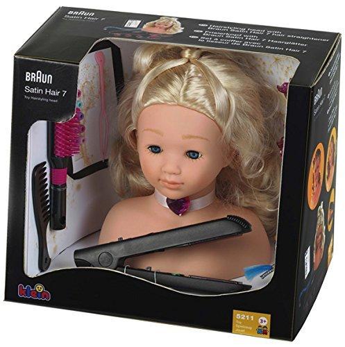 [Amazon.de-Prime-WHD]Theo Klein 5245 - Frisierkopf mit Braun Satin Hair 7 Haarglätter ab 18,15€