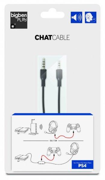 BIGBEN / TURTLE BEACH - PS4-Chatkabel /  Ermöglicht den Anschluss von PS3™ und XBox™ 360 Headsets an die PS4™ / @Saturn Online bei Lieferung in eine Filiale 4,99 EURO