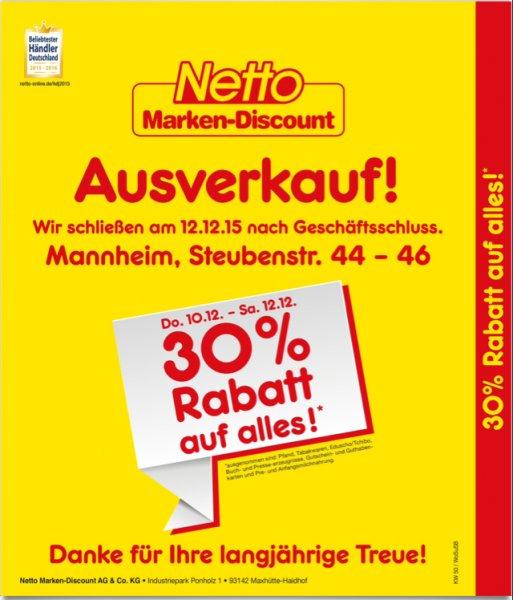 (Lokal) Netto Marken-Discount Schließt die Filiale (Mannheim Steubenstr. 44-46)