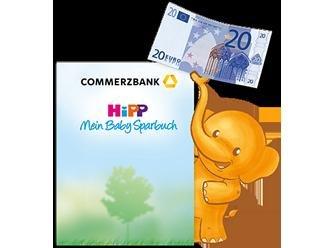 Kostenlose Hipp - Mein Baby Club Mitgliedschaft Inklusive 20€ Gutschein für die Eröffnung eines HiPP Mein Baby Sparbuchs bei der Commerzbank