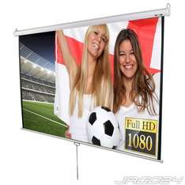 [Jago24] Beamer Leinwand Heimkino 203x203cm (Diagonale ca. 289cm / 113 Zoll) HDTV/3D tauglich