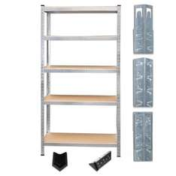 Schwerlastregal mit 5 Böden (Traglast 175 kg/Boden, 875 kg/gesamt) für 22,95 €, versandkostenfrei im eBay-WOW!-Deal