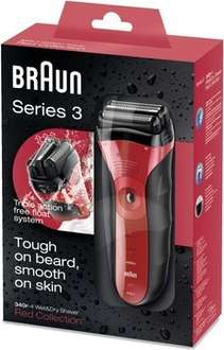 [Saturn] BRAUN Series 3 340, Herrenrasierer, Akkubetrieb, Schwarz/Rot 49€ mit Newsletter 44€