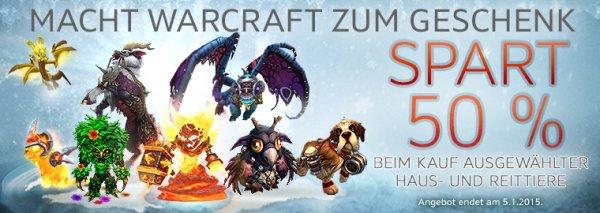 [World of Warcraft] Winterhauchangebote - Ausgewählte Haus- und Reittiere 50 % günstiger