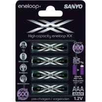 [Voelkner] 8 × Eneloop Sanyo Micro (AAA)-Akku NiMH XX (die stärkere schwarze Version) für 15,78 €