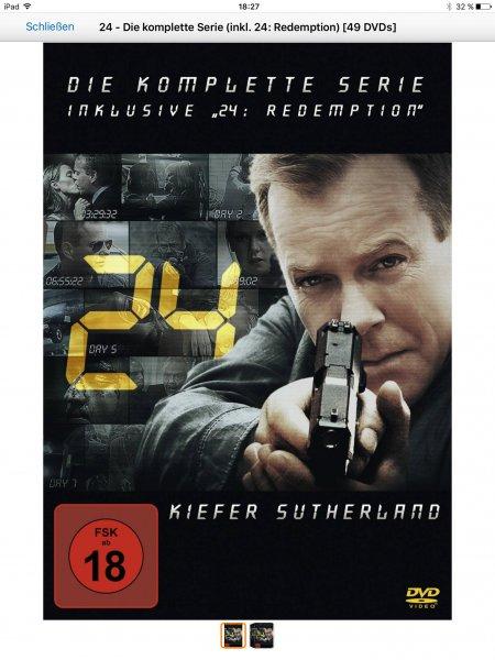 24 - Die komplette Serie (inkl. 24: Redemption) [49 DVDs] bei Amazon für 49,99 Euro