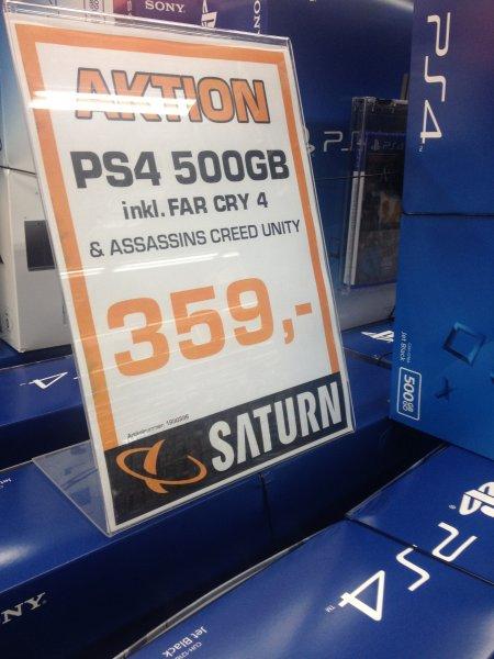 [Lokal] Saturn Berlin Alexanderplatz Playstation 4 500 GB + Assassin's Creed Unity + Far Cry 4