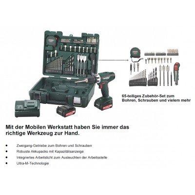 Bei handwerker-plus.de: METABO BS 14,4 LI AKKU-BOHRSCHRAUBER MOBILE WERKSTATT für effektiv 139,-€