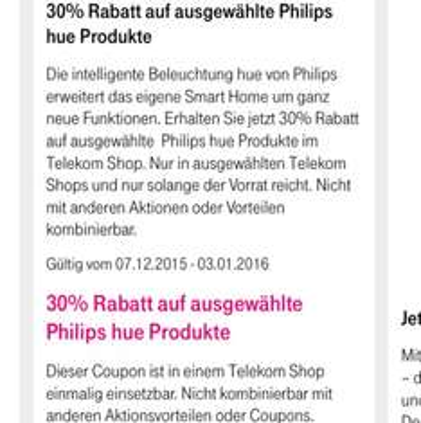 Lokal deutschlandweit HUE E27 Telekom Store
