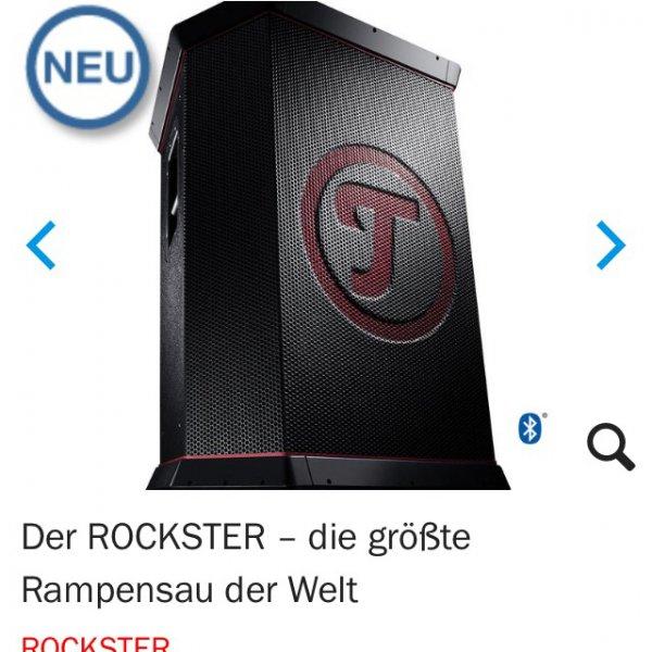 "[Online Teufel] größter portabler Lautsprecher der Welt ""Teufel Rockster"" effektiv für 811,21€ (8% Cashback über Qipu) statt 1208,99€+Rockster XS Gratis (normal 179€)"