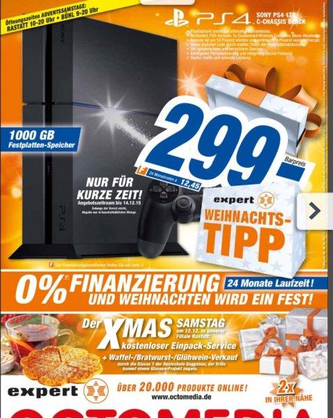 [Bundesweit Octomedia/Expert ] PS4 1TB für 299€