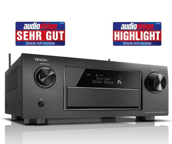 Denon AVR X4200W schwarz für 1055,55 Euro Online  @ Projekt Akustik